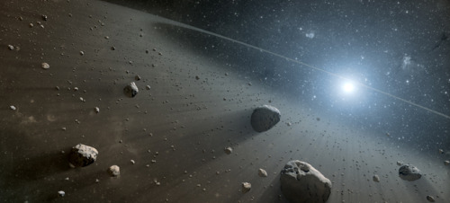 "NASA, ESA Telescopes Find Evidence for Asteroid Belt Around Vega Astronomers have discovered what appears to be a large asteroid belt around the star Vega, the second brightest star in northern night skies. The scientists used data from NASA's Spitzer Space Telescope and the European Space Agency's Herschel Space Observatory, in which NASA plays an important role. The discovery of an asteroid belt-like band of debris around Vega makes the star similar to another observed star called Fomalhaut. The data are consistent with both stars having inner, warm belts and outer, cool belts separated by a gap. This architecture is similar to the asteroid and Kuiper belts in our own solar system. What is maintaining the gap between the warm and cool belts around Vega and Fomalhaut? The results strongly suggest the answer is multiple planets. Our solar system's asteroid belt, which lies between Mars and Jupiter, is maintained by the gravity of the terrestrial planets and the giant planets, and the outer Kuiper belt is sculpted by the giant planets. ""Our findings echo recent results showing multiple-planet systems are common beyond our sun,"" said Kate Su, an astronomer at the Steward Observatory at the University of Arizona, Tucson. Su presented the results Tuesday at the American Astronomical Society meeting in Long Beach, Calif., and is lead author of a paper on the findings accepted for publication in the Astrophysical Journal. Read More."