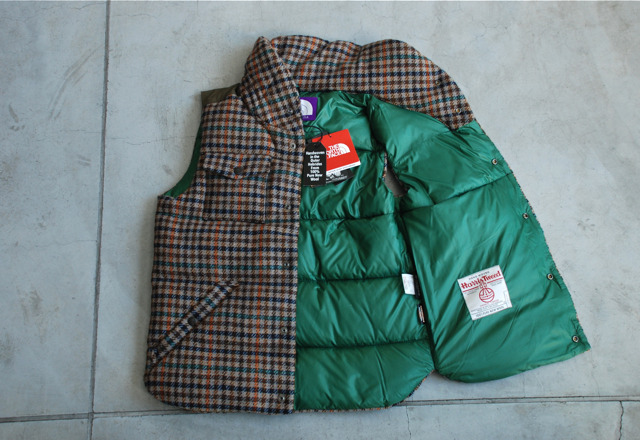 (via THE NORTH FACE PURPLE LABEL Harris Tweed Down Vest | FRESHNGOOD.COM)