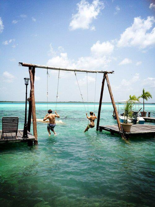 origami-dolls:  am i the only one wondering how they got on those swings? lol