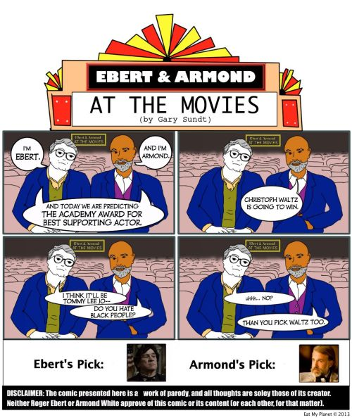 OSCARS 2013 — BEST SUPPORTING ACTOR: Predicted by Ebert & ArmondRoger Ebert & Armond White predict this year's winner for Best Supporting Actor. Ebert's…View Post
