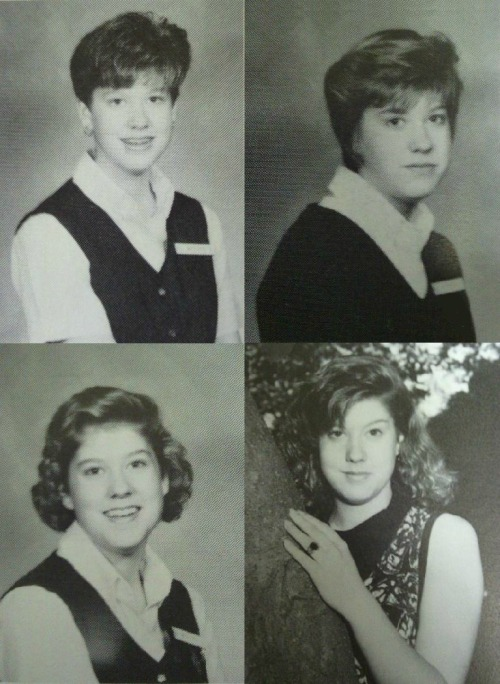 badphotosofmaureenjohnson:   Maureen's high school yearbook photos!  My complete and utter respect to reader-meg for finding these. And may I add that MJ is just absolutely gorgeous in the last one.