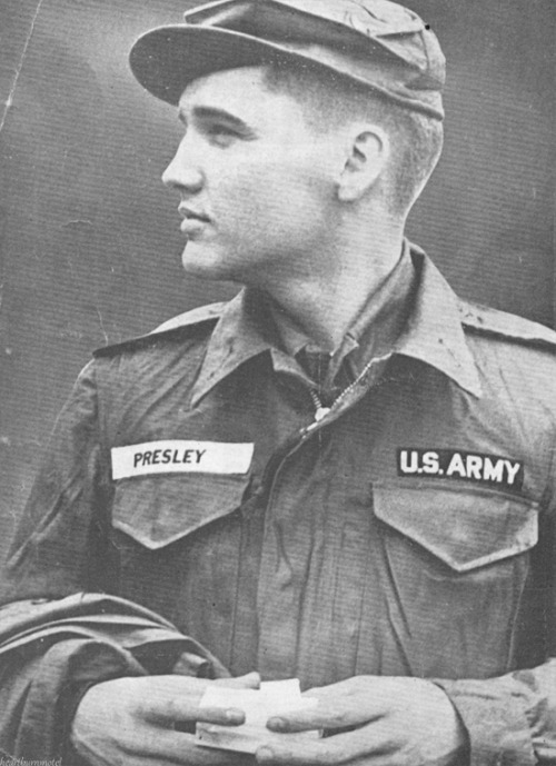 heartburnmotel:  Elvis during his Army service, c. 1958