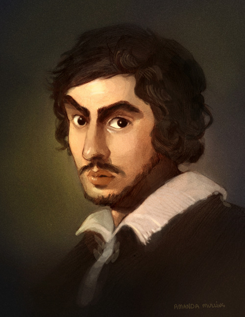 Gian Lorenzo Bernini - continuing on my 'famous artist portraits' I guess? My favorite sculptor, if I have one. He had a big ego, understandably.