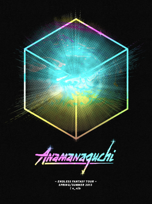 anamanaguchi:   ENDLESS FANTASY TOUR (click to animate) Thu 5/16 Hamden, CT @ The Space (tickets) Fri 5/17 New York, NY @ Irving Plaza (tickets)Sat 5/18 Boston, MA @ Sinclair (tickets)Sun 5/19 Philadelphia, PA @ North Star Bar (tickets)Tue 5/21 Montreal, QC @ Il Motore (tickets)Wed 5/22 Ottawa, ON @ Maverick's (tickets)Thu 5/23 Toronto, ON @ The Hoxton (tickets)*Fri 5/24 Detroit, MI @ Shelter (tickets) *Sat 5/25 Chicago, IL @ Lincoln Hall (tickets)*Sun 5/26 Minneapolis, MN @ Triple Rock (tickets)*Tue 5/28 Iowa City, IA @ Blue Moose (tickets)*Wed 5/29 St Louis, MO @ The Demo (tickets)*Thu 5/30 Lawrence, KS @ Jackpot Music Hall (tickets)*Fri 5/31 Denver, CO @ Marquis Theater (tickets)*Sat 6/1 Salt Lake City, UT @ The Shred Shed (tickets)*Tue 6/4 Vancouver, BC @ Biltmore (tickets)*Thu 6/6 Seattle, WA @ Chop Suey (tickets)*Fri 6/7 Portland, OR @ Backspace (tickets)*Sat 6/8 San Francisco, CA @ Brick + Mortar Music Hall (tickets)*Sun 6/9 San Francisco, CA @ Rickshaw Stop (tickets)*Tue 6/11 Los Angeles, CA @ Echoplex (Check Yo Ponytail) (tickets)  *with CHROME SPARKS 2ND LEG — July - south & midwest dates TBA :)poster by Cory Schmitz (with Maré Odomo)  We're super excited to announce that we will be playing at Lincoln Hall on 5/25 with Anamanaguchi and Chrome Sparks! Make sure you buy a ticket and come party with us~*~*~*~