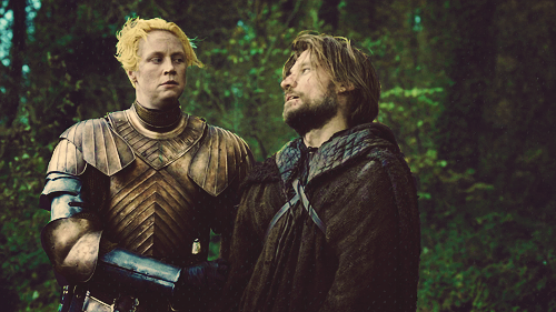 """Uggh, Brienne, do we have to—"" ""I WILL TURN THIS CAR AROUND."""