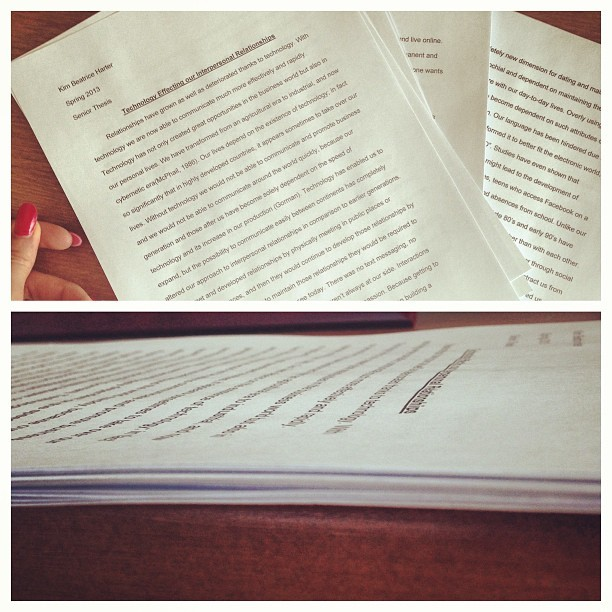 25 pages later —— #senior #thesis done! #graduation this Friday. #nerding