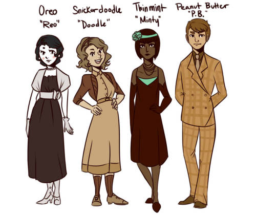 creaseintime:  cookiekween:  And there you have it. The main cast of Cookies and Crime. A few changes and a few new characters. And it should be noted that Redusa's (previously Ori) name was Quillystuff's idea. And Lemony is a character loosely based on Crypticsparrow's OC.   casually ships P.B. and Doodle
