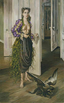 specterofsexlessappeal:  Birthday Dorothea Tanning 1942, oil on canvas,