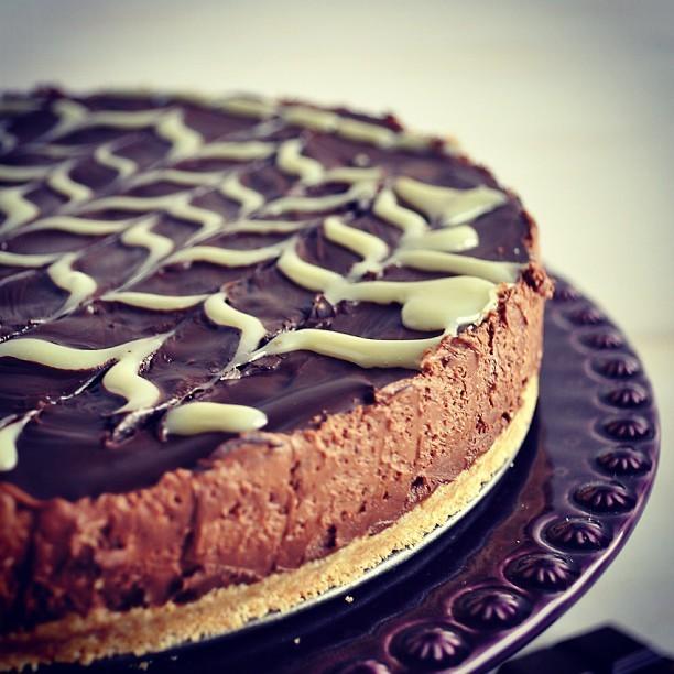 Coisas boas do fim de semana. Terça-feira no blog! #cheesecake #chocolate #chocolatecheesecake #lorainepascal #foodblogger