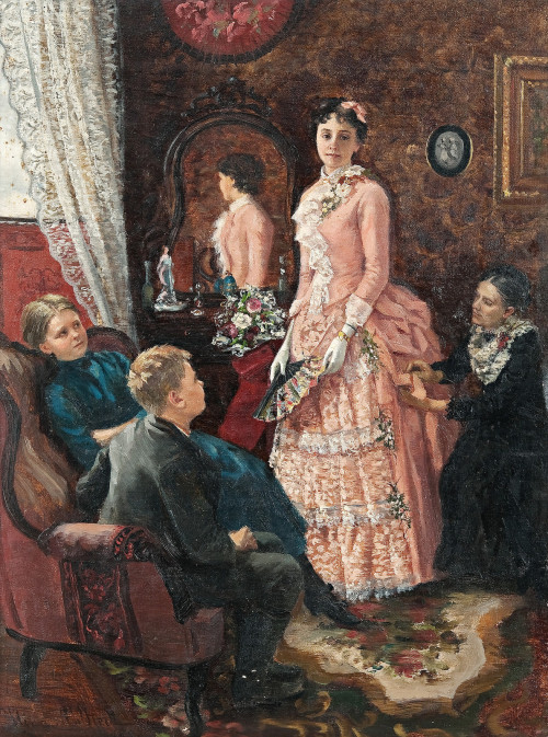 Nina Ahlstedt - Lady in a Pink Dress (1887)