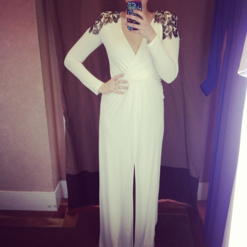 Winter White BCBG dress Austin, Texas