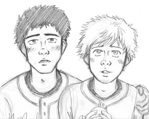 Just doodling some baseball boys looking at the stars. IDK. OTL