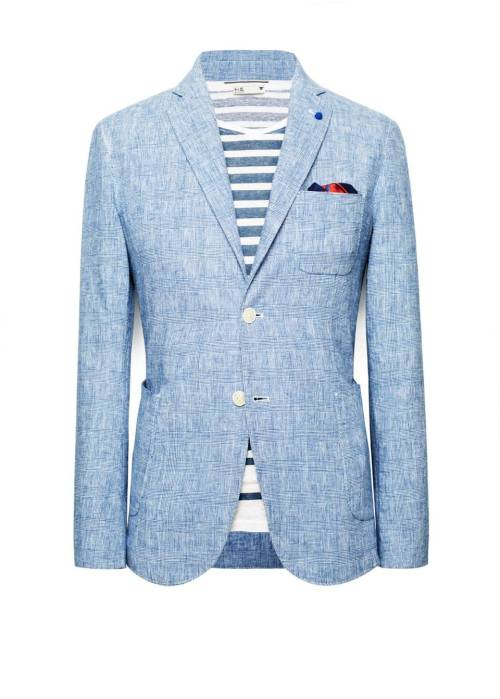 jacket-is-required:  Prince of Wales linen-blend blazer