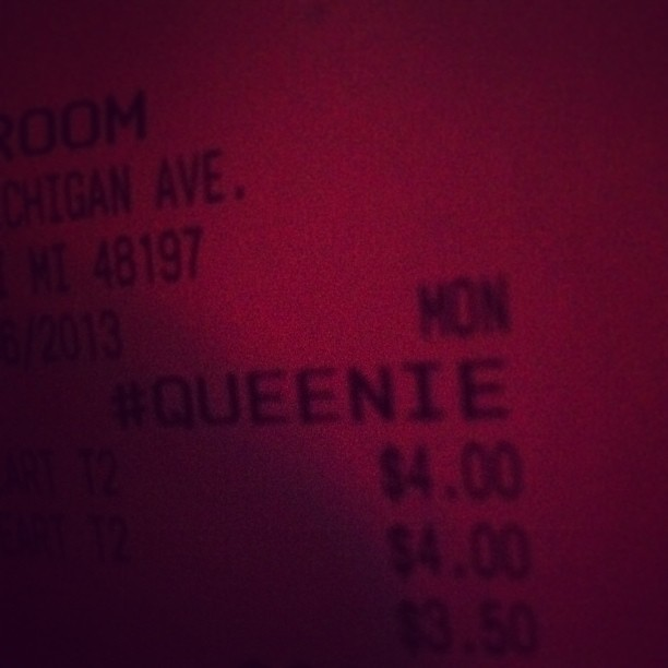 Hi my name is apparently Queenie ALL THE TIME.
