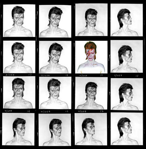 mpdrolet:  David Bowie, Contact Sheet, 1973 Bryan Duffy