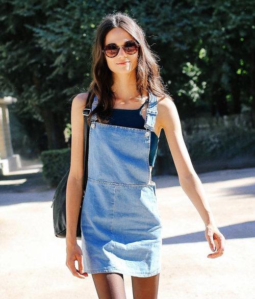 Overall denim dress | Tumblr