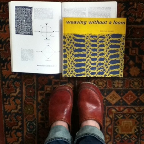 Clogs and Kongo cosmograms in @diannekoppischhricko 's library (at The Crane)