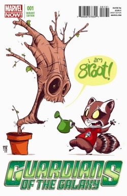 crashbaby:  Guardians of the Galaxy #1 Variant Cover By Skottie Young
