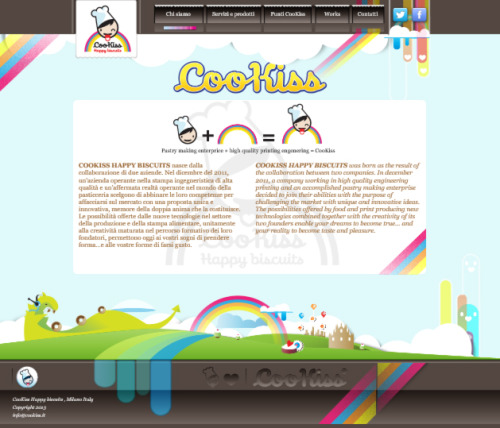 CooKiss.it animated webdesign