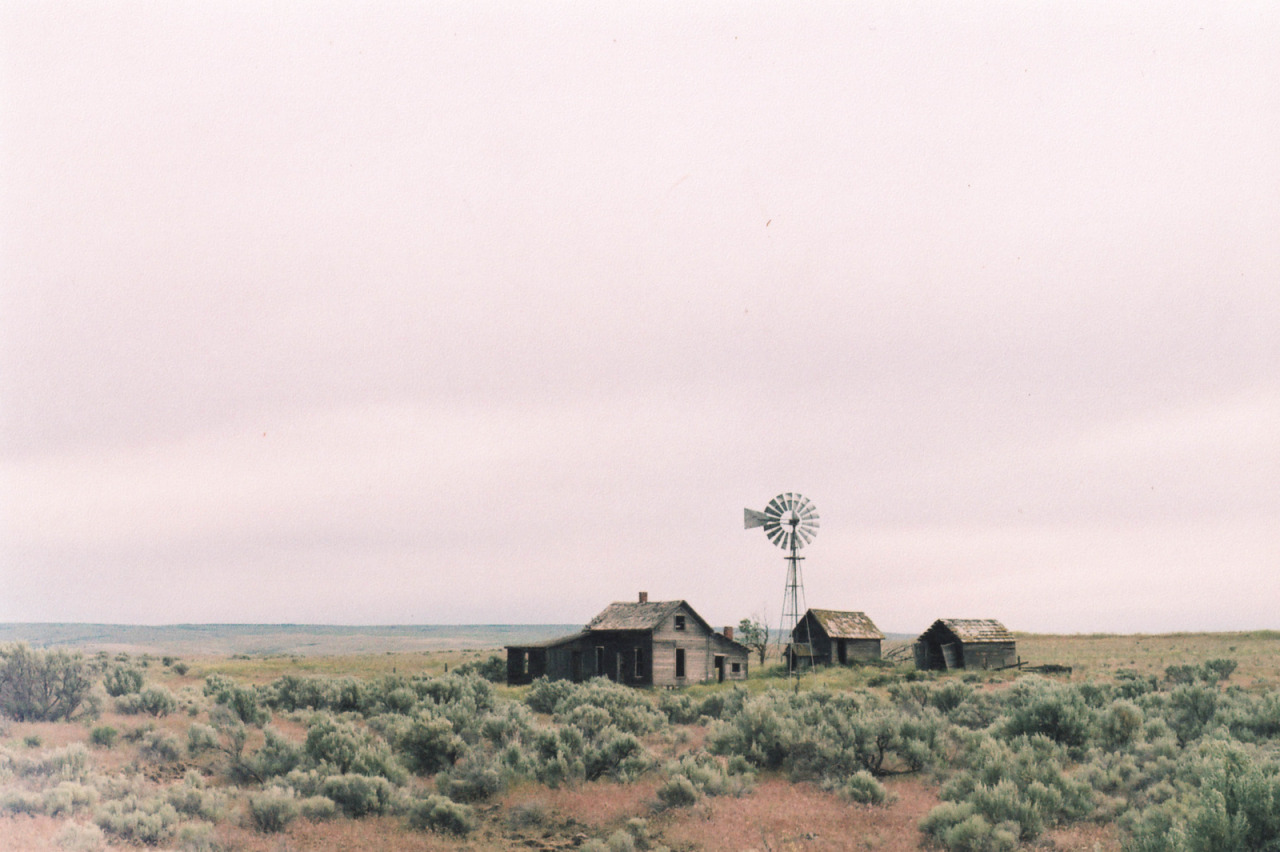 cabinporn:  Derelict homestead in Eastern Oregon. Photograph by Miles Bowers.