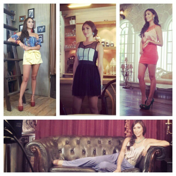 Summary of @solennheussaff's looks from yesterday's taping! ♥ #styling