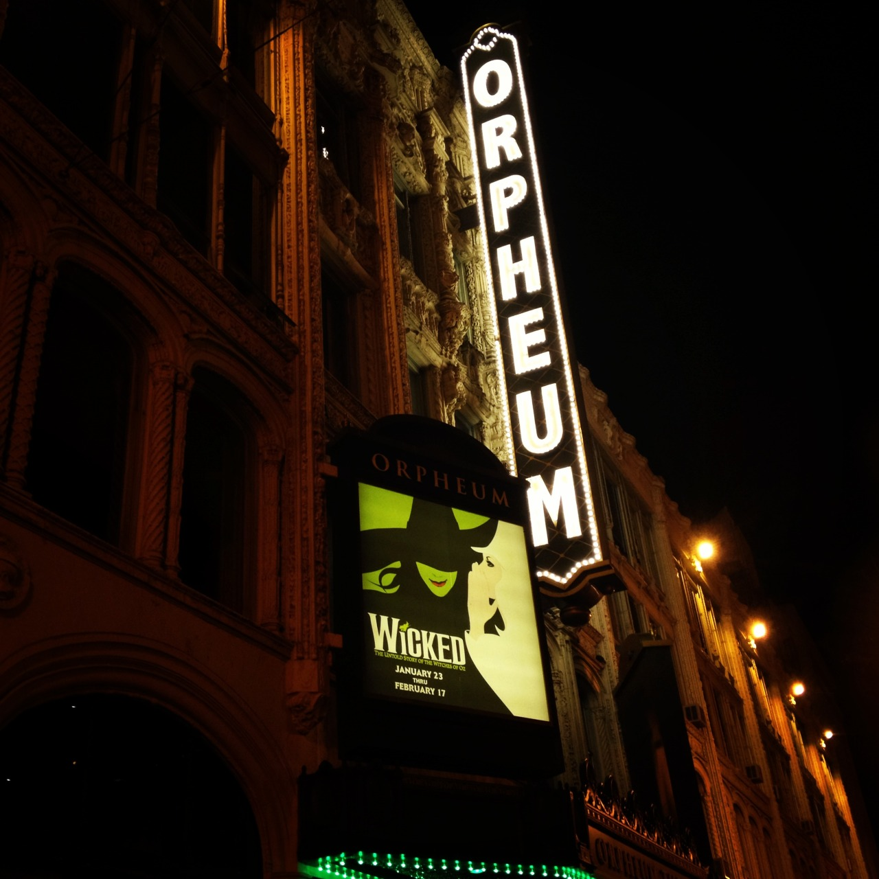 Wicked! [Taken 2/15/13 at Orpheum Theater in San Francisco, CA using iPhone 4S]