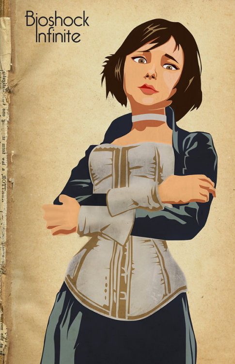 gamefreaksnz:  Bioshock Infinite - by Kodi Sershon Available at Etsy