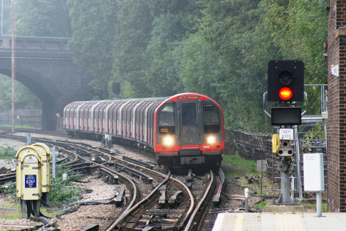 tube train central line by cockneycowboy on Flickr.