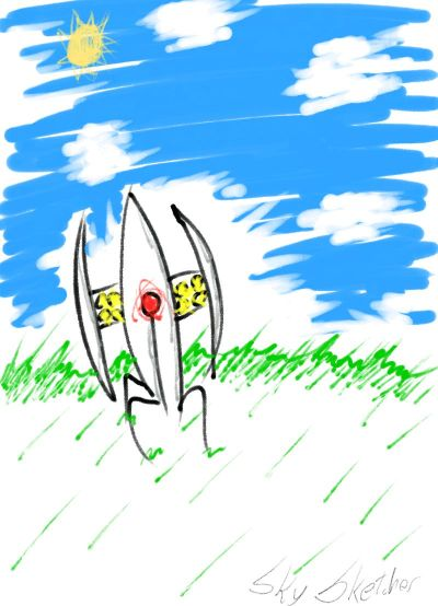 A Turret In The Grass! I made this with a Samsung Galaxy tablet. It was fun :)