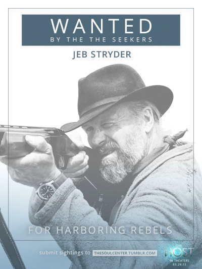thesoulcenter:  Wanted: Jeb Stryder for harboring rebels. Click here to report all sightings to The Soul Center.