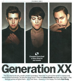 THE XX | TIME OUT MAGAZINE | 2013