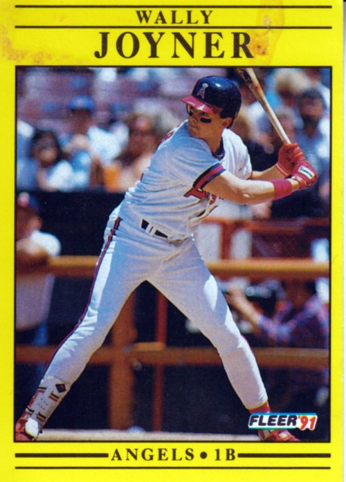 Random Baseball Card #2349: Wally Joyner, first baseman, California Angels, 1991, Fleer.