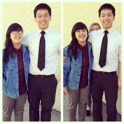 My boy @andrechuong! Dressed pretty spiffy today. #ootd #wdywt