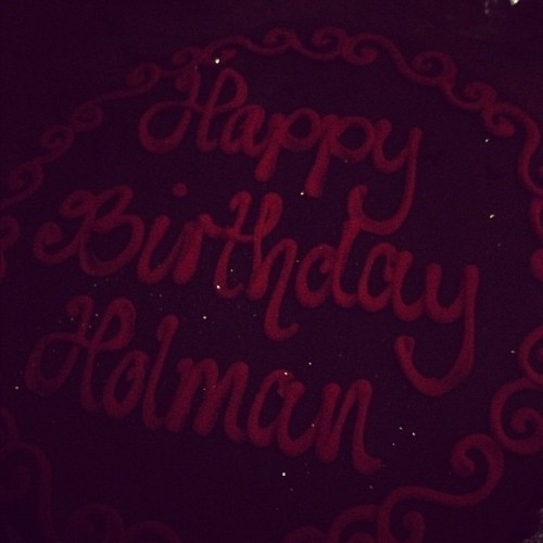 Happy birthday Holman!