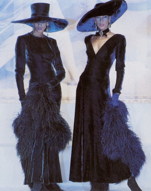 80s-90s-supermodels:  Lancetti F/W 1993Models : Sonia Cole & Unknown