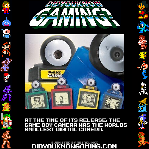 didyouknowgaming:  Game Boy Camera.  Source: The Guinness Book of World Records 1999