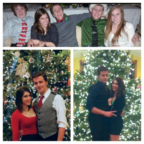 Top picture: Christmas 2010. Bottom Left picture: Christmas 2011. Bottom right picture: Christmas 2012. I love you❤@brendanicso #tbt #throwbackthursday #throwback #thenandnow #love #boyfriend #christmas
