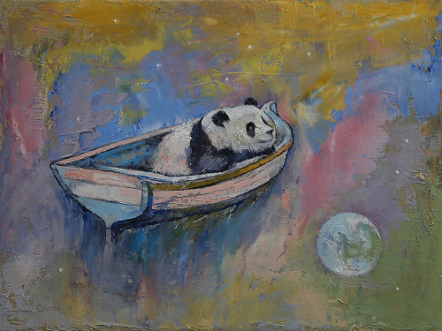 "creese:  Michael Creese, ""Panda Moon"" (2013)"