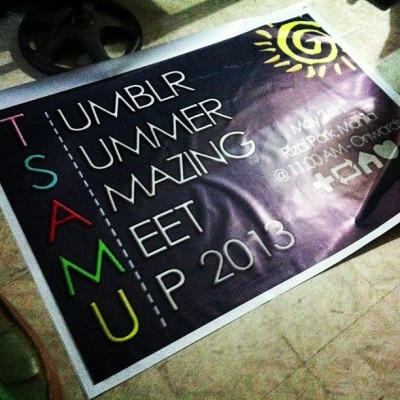 "korneeto:  Are you ready for Tumblr Summer Amazing Meetup? :""> #TSAMU2013"