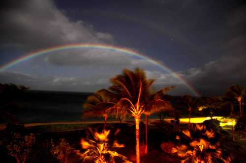 (via Lunar Double Rainbow! | NASA Lunar Science Institute) Dale Cruikshank took this 20 second exposure at F4 with a 28 mm lens from Kaanapali, Maui at ~9:30 PM on Feb. 26, 2013. Nothing inspires like a LUNAR DOUBLE rainbow! Be sure to also check out the video compilation of 162 photos of the 2012 annular eclipse taken by Dr. Dale Cruikshank at the Grand Canyon in Arizona. Dr. Cruikshank is one of the premier astronomers and planetary scientists in the Astrophysics Branch at NASA Ames Research Center, Moffett Field, Calif. Posted by: Soderman/NLSI StaffSource: NASA/Dale Cruikshank