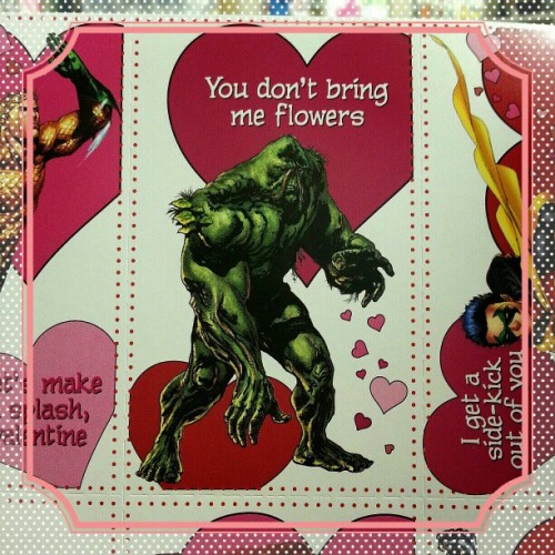 atomicbooks:  Oh Swampy. I'll always be your Valentine. #atomicbooks