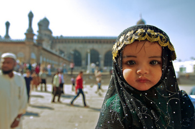islamic-art-and-quotes:  Little Girl at the Mosque
