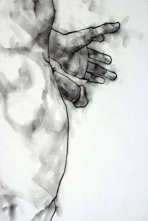 maturegayhomoerotica:  phillipdvorak: One of my drawings - charcoal on paper.