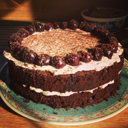 foodiegirleatery:  Black Forest Gateaux