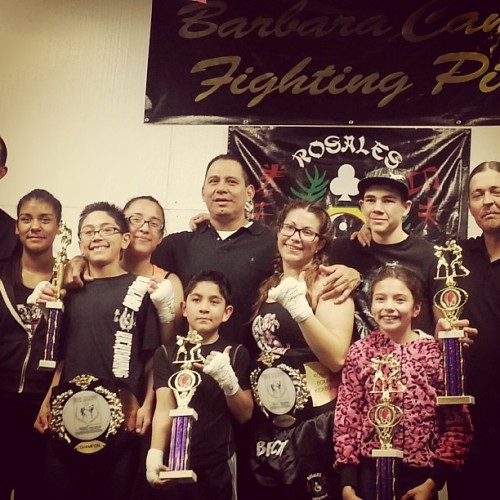 Team Rosales did good tonight #newbelt #boxing