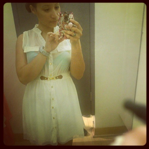 Simple dress I bought today from #charlotte_russe I obviously need a cami under it though lol #personal #selca