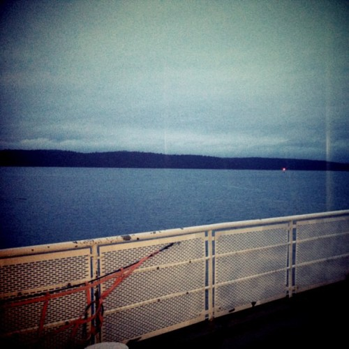 Early morning ferry ride back to the mainland.