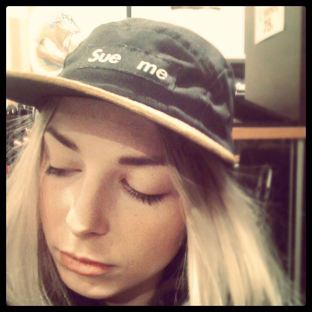 New In: Sue Me cap by FAKE(taken with instagram)