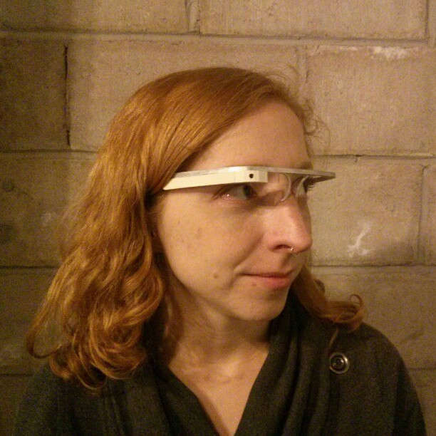 Trying on some Google glass ;)