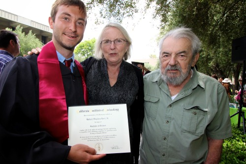 Nephew Robert with Mom & Howard after Robert's legendary graduation in 2012 at CalTech in Pasadena, CA